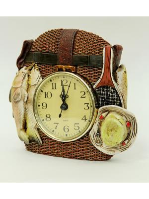 Часы настольные Рыбалка Magic Home. Цвет: белый
