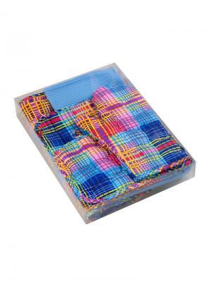 Набор текстиля для кухни:4 полотенца, 2 прихватки, рукавичка, текстильная ваза Традиция. Цвет: синий, голубой, сиреневый, красный, розовый, желтый