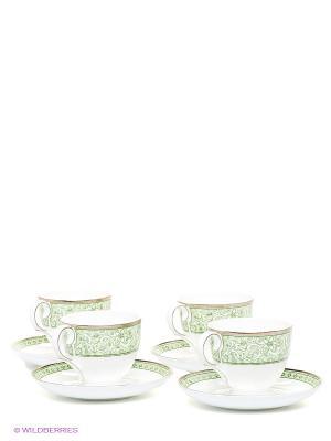 Чайный набор Аделина Pavone. Цвет: зеленый, белый