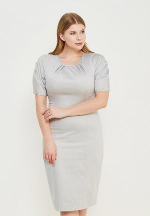 Платье Pepen. Цвет: серый