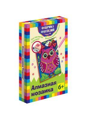 Алмазная мозаика Совушка, размер 10х15 см Фабрика Фантазий. Цвет: черный, темно-синий, зеленый, фиолетовый, розовый, желтый, белый