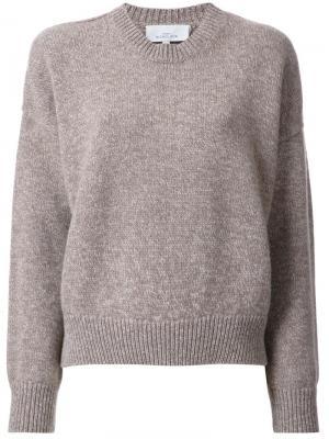 Укороченный свитер Studio Nicholson. Цвет: коричневый