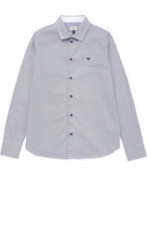 Рубашка из хлопка с принтом Giorgio Armani. Цвет: разноцветный