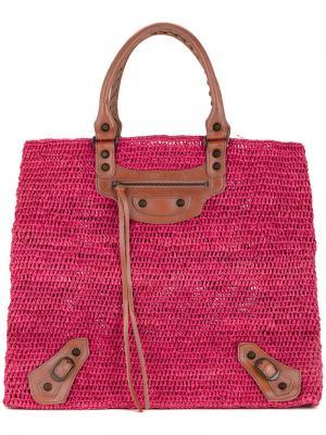 Сумка-тоут Classic Balenciaga Vintage. Цвет: розовый и фиолетовый