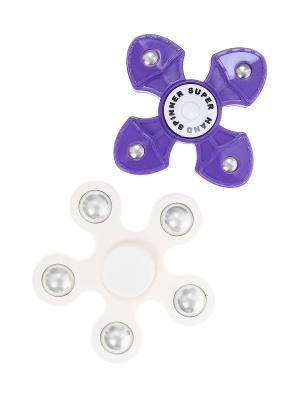 Спиннер - 2 шт., держатель Olere. Цвет: фиолетовый, белый, серебристый