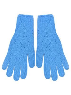 Перчатки R&I. Цвет: лазурный