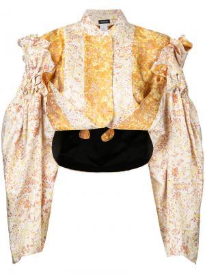 Куртка-бомбер cascade Litkovskaya. Цвет: жёлтый и оранжевый
