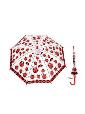 Зонт NeKi. Цвет: прозрачный, белый, красный