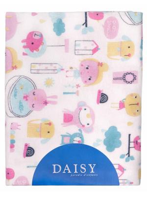 Пеленка Фланель 90х150 см Девочки DAISY. Цвет: бледно-розовый, белый, морская волна, малиновый, светло-оранжевый