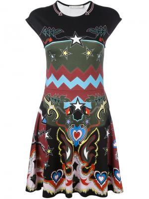 Платье с абстрактным принтом Pinto Mary Katrantzou. Цвет: чёрный