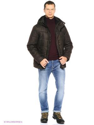 Куртка Grishko. Цвет: коричневый