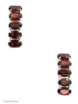 Серьги SOKOLOV. Цвет: бордовый, серебристый