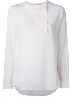 Блузка со смещенной застежкой Vanessa Bruno. Цвет: белый