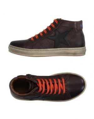 Высокие кеды и кроссовки BISGAARD. Цвет: темно-коричневый