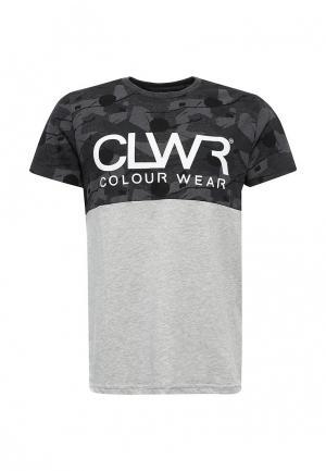 Футболка CLWR. Цвет: серый