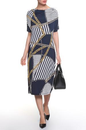 Платье ROSANNA PELLEGRINI. Цвет: черный, цепи