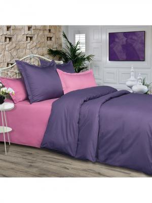 Комплект постельного белья из ткани Сатин в подарочной упаковке Божоле Арт Постель. Цвет: фиолетовый, сиреневый