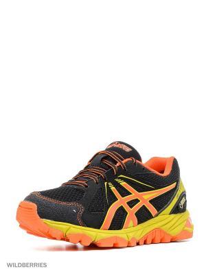 Спортивная обувь GEL-STORMPLAY GS G-TX ASICS. Цвет: черный, желтый, оранжевый