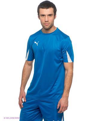 Футболка  Team Shirt Puma. Цвет: синий