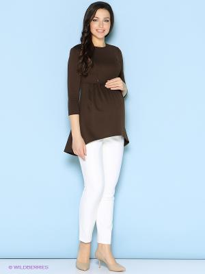Туника Trendy Tummy. Цвет: коричневый