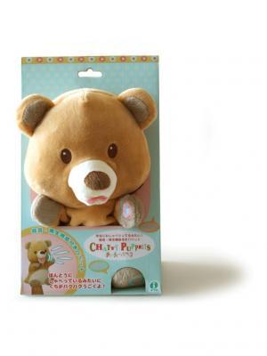 Интерактивная игрушка-повторюшка Медвежонок, одевается на руку. Origami. Цвет: коричневый, светло-коричневый, светло-оранжевый