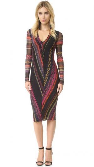 Платье с длинными рукавами Fuzzi. Цвет: porpora
