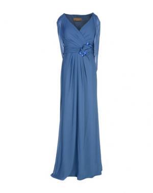 Длинное платье MUSANI GOLD. Цвет: лазурный