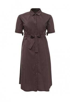 Платье Piena. Цвет: коричневый