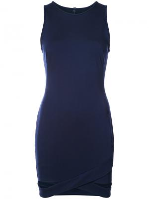 Приталенное платье без рукавов Black Halo. Цвет: синий