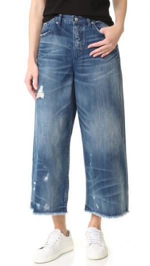 Широкие джинсы Malibu PRPS. Цвет: светло-голубой