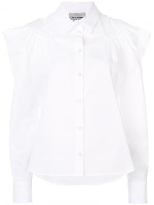 Рубашка с оборкой Rachel Comey. Цвет: белый