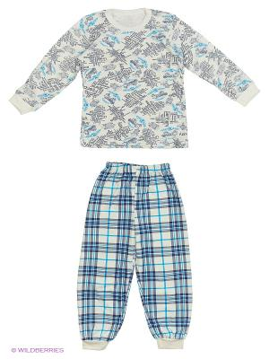 Пижама Babycollection. Цвет: голубой, белый