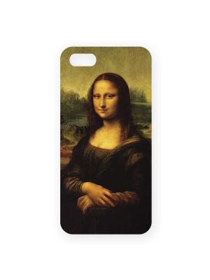 Чехол для IPhone 5 Мона Лиза Mitya Veselkov. Цвет: коричневый