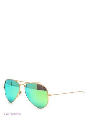 Очки солнцезащитные AVIATOR LARGE METAL Ray Ban. Цвет: салатовый, золотистый