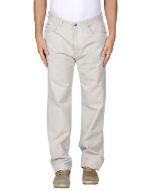 Повседневные брюки AVIO. Цвет: светло-серый