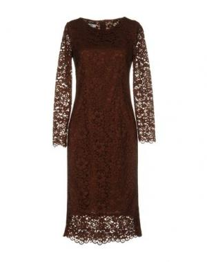 Платье до колена TENAX. Цвет: какао