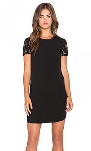Мини платье с украшением IKKS Paris. Цвет: черный