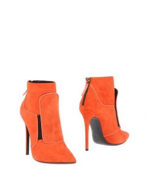 Полусапоги и высокие ботинки GIANMARCO LORENZI. Цвет: оранжевый