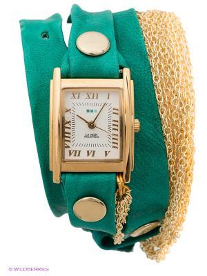 Часы La Mer Collections. Цвет: зеленый, золотистый
