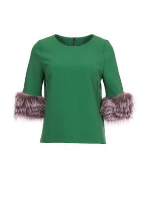 Блуза Inna Honour. Цвет: зеленый
