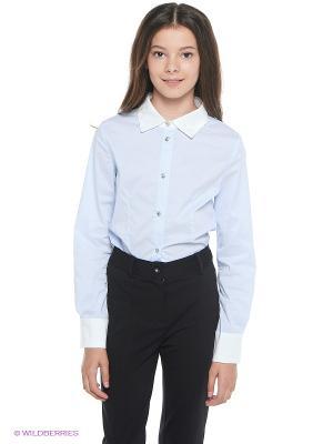 Блузка Nota Bene. Цвет: голубой