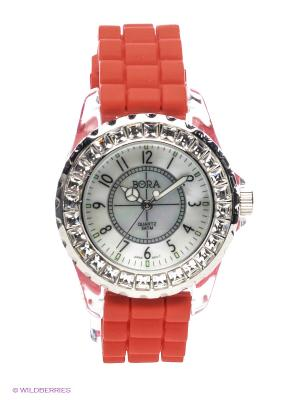 Часы Bora. Цвет: красный