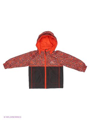 Куртка SAIMA. Цвет: коричневый, красный