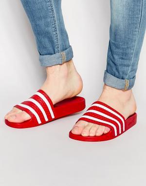 Adidas Originals Шлепанцы Adilette 288193. Цвет: красный