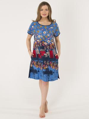 Платье Лори. Цвет: голубой