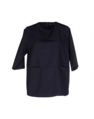 Блузка LA CAMICIA BIANCA. Цвет: темно-синий