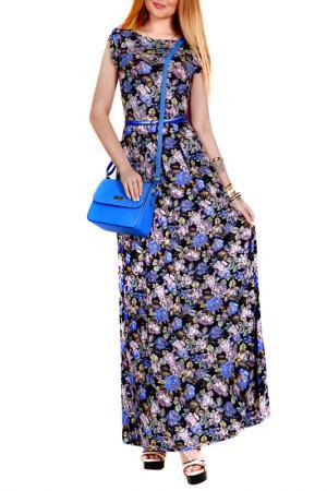 Платье FRANCESCA LUCINI. Цвет: голубой, жемчужный, цветы