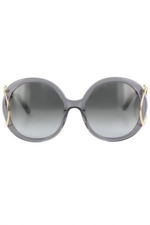 Очки солнцезащитные Chloe. Цвет: серый