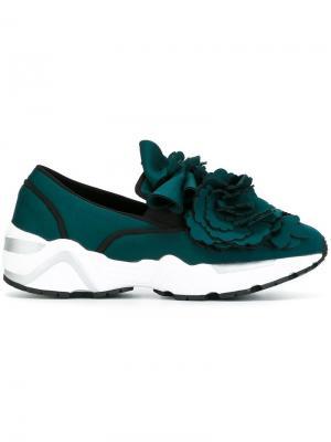 Декорированные кроссовки Suecomma Bonnie. Цвет: зелёный