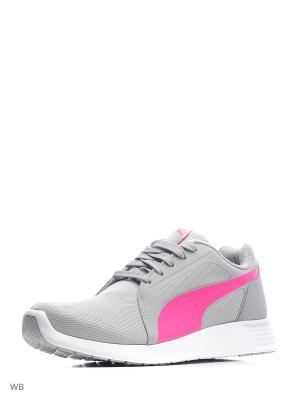 Кроссовки ST Trainer Evo Jr Puma. Цвет: светло-серый, розовый